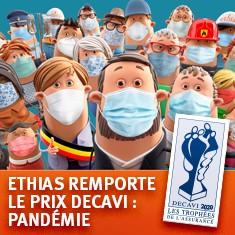 Ethias reconnue par le secteur pour ses initiatives citoyennes en vue de lutter contre le Covid-19